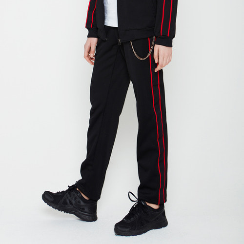DDP-019 RETRO TRACK PANTS BLACK